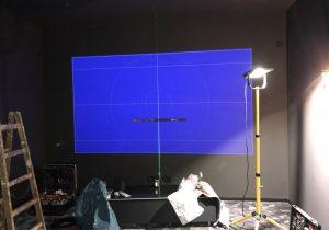 Heimkino Planung und Installation Audio-Team Spannleinwand DLS Wandlautsprecher Yamaha AV-Receiver