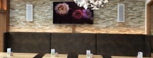 TV Wand Cafe Waldeck