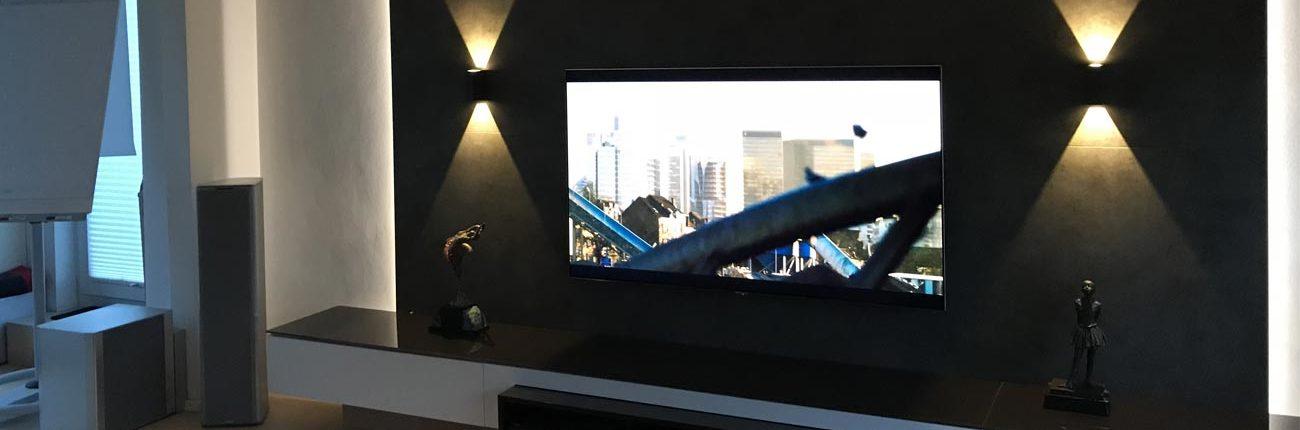 TV-Wand mit Medien Low_Board