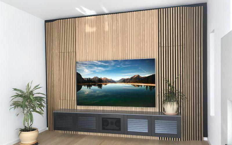 TV-Wand in moderner Optik | AUDIO-TEAM - Home Entertainment